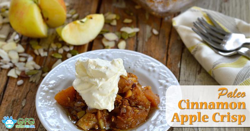 Paleo Cinnamon Apple Crisp | Grass Fed Girl