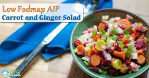 Paleo, Low Fodmap, AIP Carrot and Ginger Salad