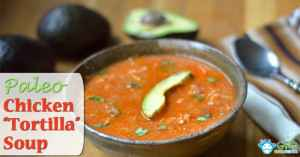 Mexican Chicken Tortilla Soup Recipe (Paleo, Gluten Free, Low Carb, Dairy Free)