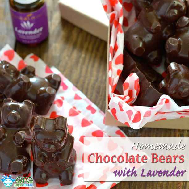 Keto Dark Chocolate Candy Bears with Lavender Oil