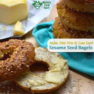 Low Carb Breakfast Bagels with Sesame Seeds (Paleo and Nut Free)