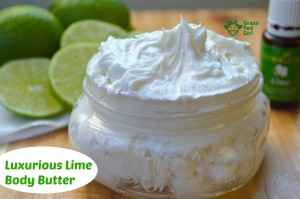 Homemade Lotion Recipe with Lime Young Living Essential Oil