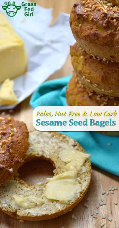 Paleo Bagels no Almond Flour