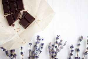 Homemade Dark Chocolate Candy Bears with Lavender Oil