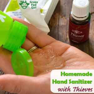 Hand Sanitizer with Thieves Essential Oil Recipe