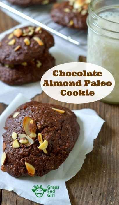 Chocolate Almond cookie recipe pinterest