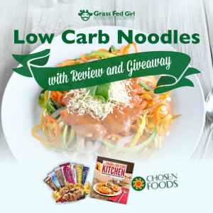 Low Carb Pasta Recipe with Review and Giveaway