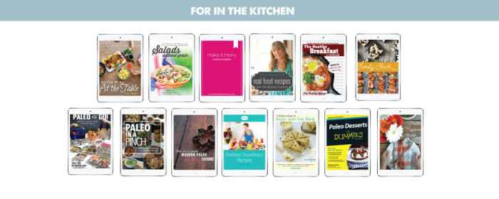 Section Graphics, For in the Kitchen, The Cookbooks