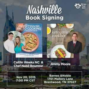 Nashville Book Signing for Mediterranean Paleo Cooking and The Ketogenic Cookbook