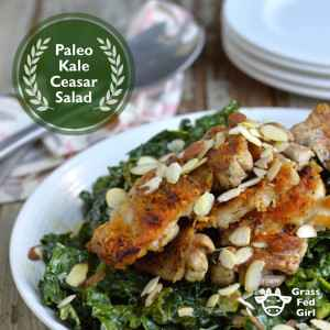Low Carb Kale Chicken Caesar Salad Recipe