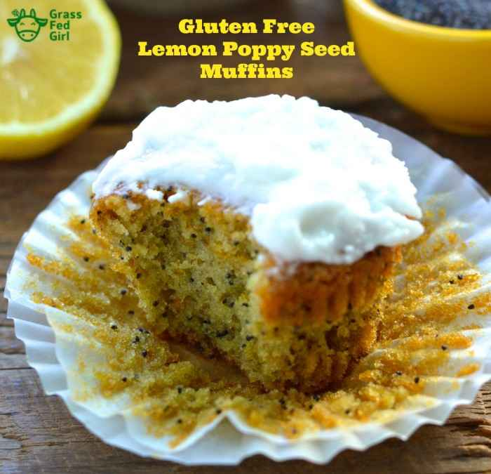 Gluten Free Lemon Poppy Seed Muffin (nut free) | Grass Fed Girl