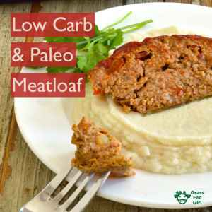 Easy Low Carb and Paleo Meatloaf Recipe