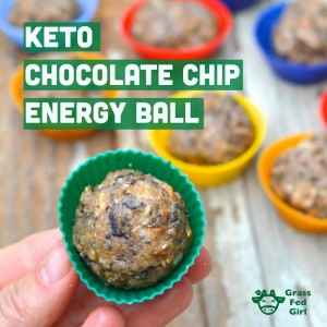 Keto Chocolate Chip Energy Snack Ball Recipe
