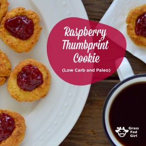 Thumbprint Cookie Recipe (low carb, paleo diet, gluten free)