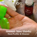 Homemade Thieves Waterless Hand Purifier and Cleanser