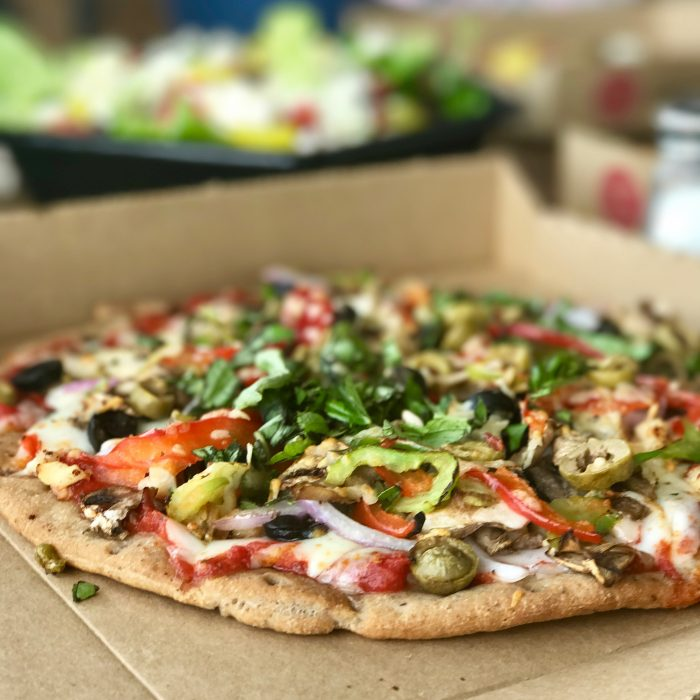 gluten free personal pizza at Pie Five