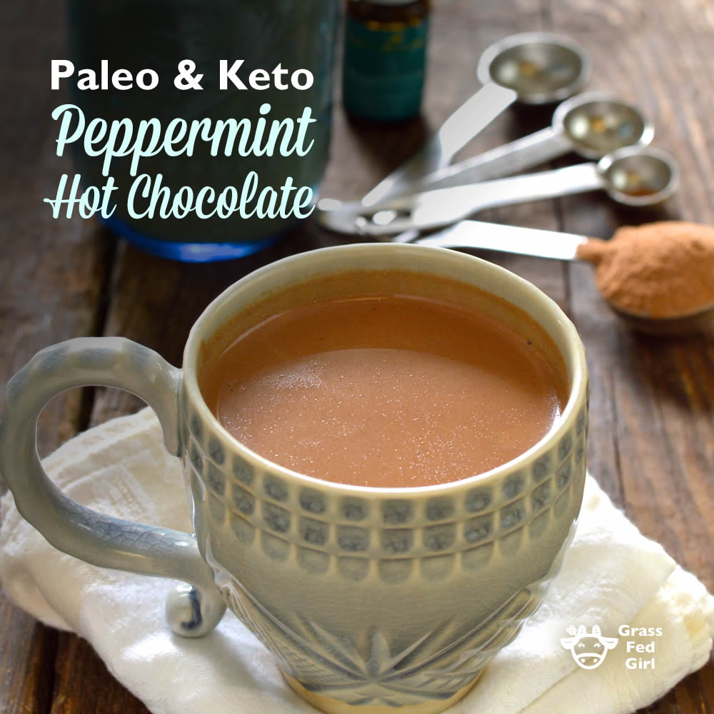 Keto and Paleo Peppermint Hot Chocolate Mix Recipe