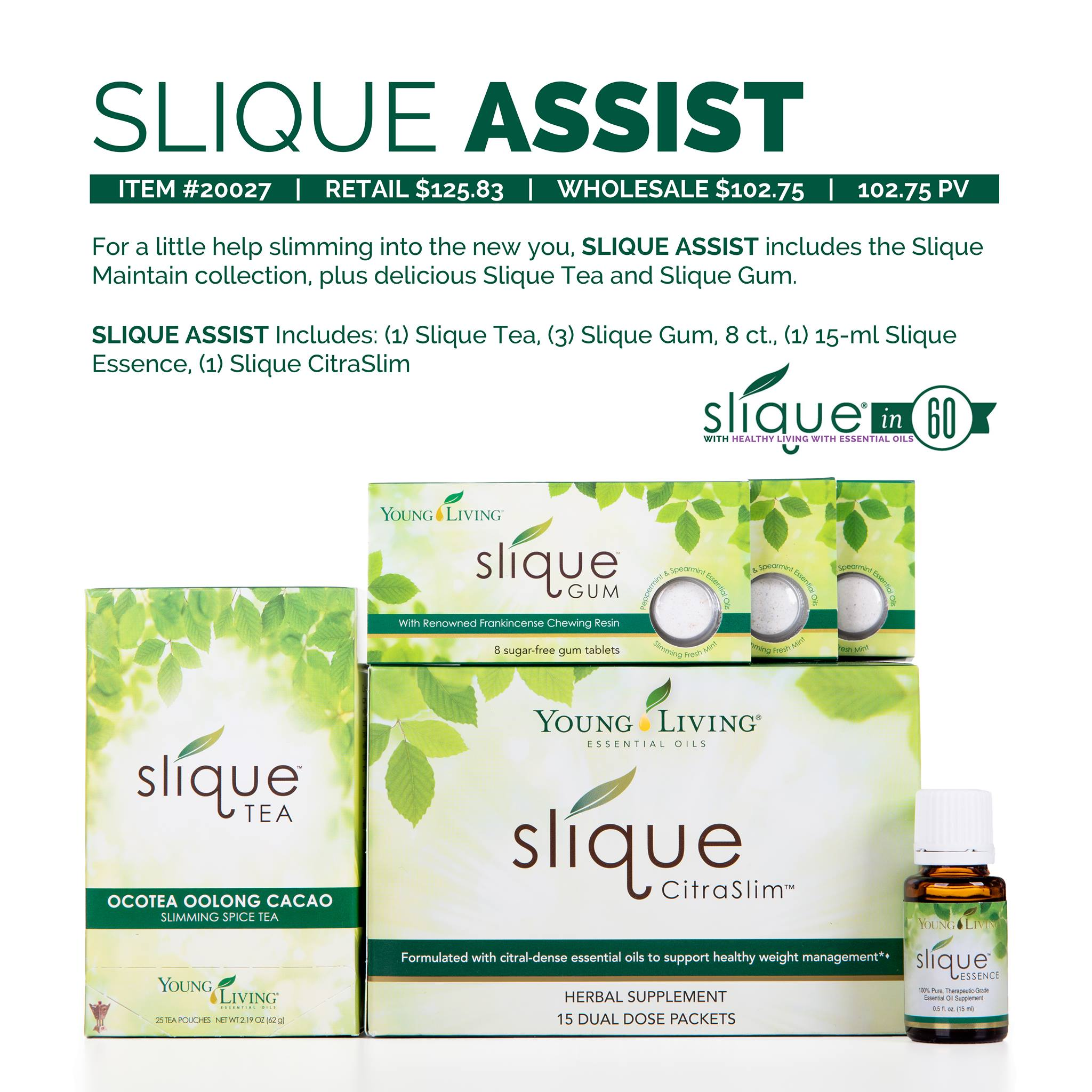 young living slique in 60 weight loss challenge
