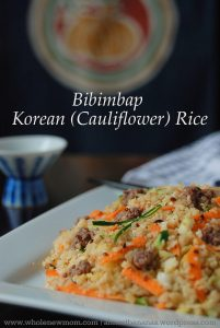 Korean Cauliflower Fried Rice