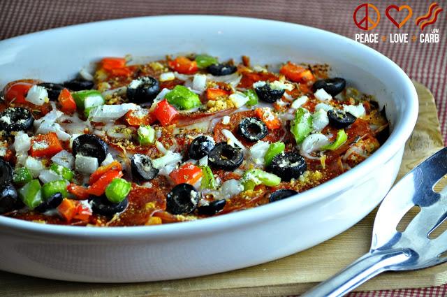 Supreme Keto Pizza Casserole