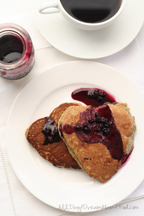 chia blender low carb pancakes with blueberry syrup
