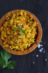 Turmeric Roasted Cauliflower Rice