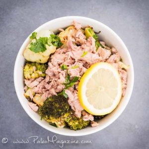 Cauliflower and Broccoli Tuna Bowl