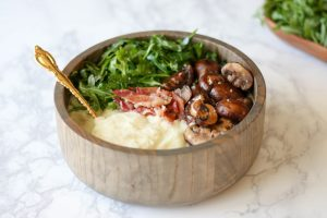Mashed Cauliflower Breakfast Bowl