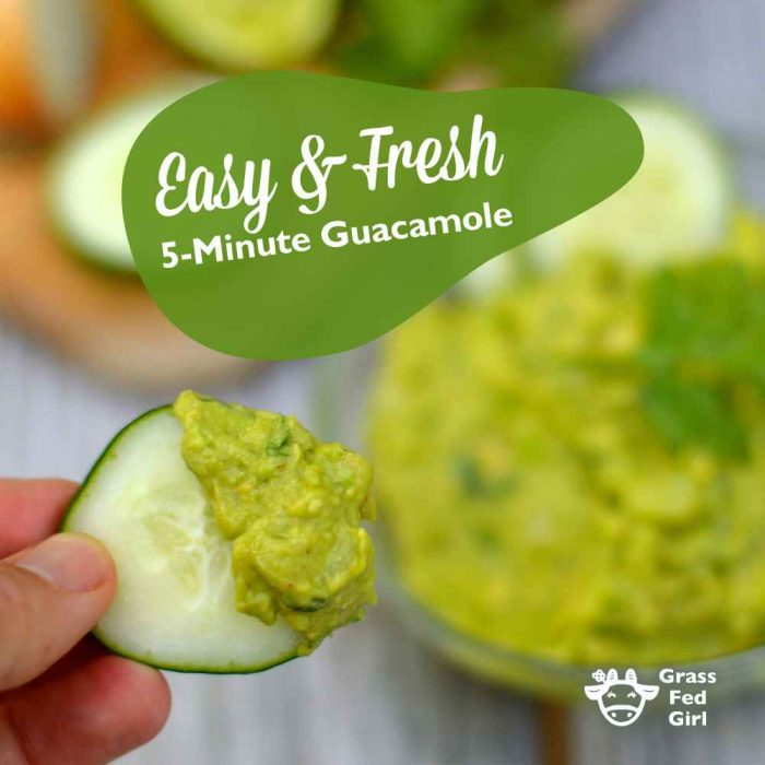 Easy and Fresh 5 Minute Paleo Guacamole Recipe
