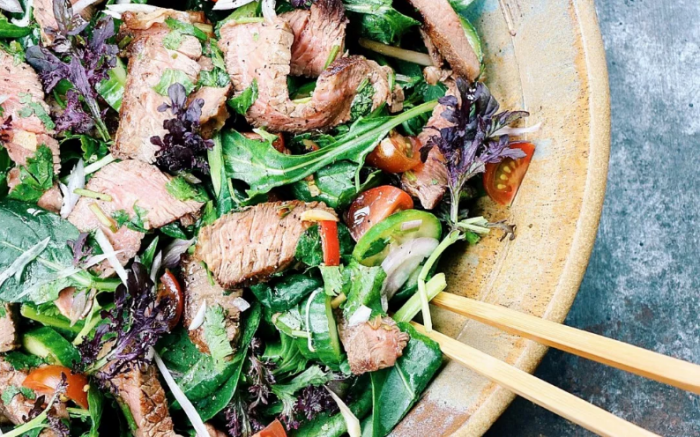 Keto BBQ Recipes for Thai Grilled Beef Salad