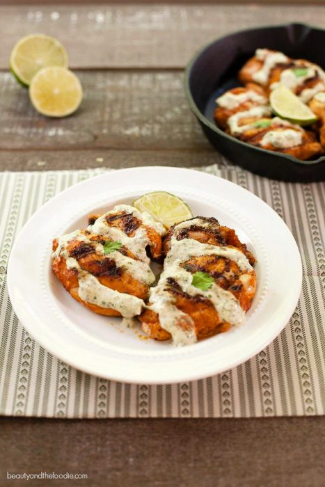 Keto BBQ Recipes for Chili lime cream grilled chicken