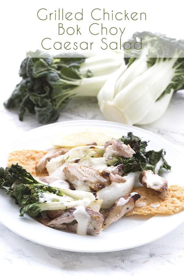 Grilled Baby Bok Choy Caesar Salad