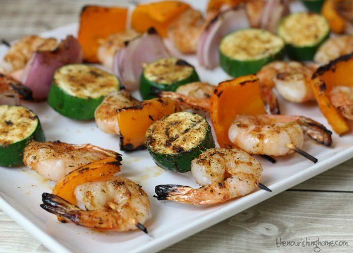 Keto BBQ Recipes for grilled shrimp kabobs