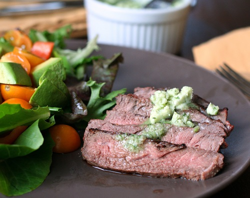 Keto BbBQ Recipes for Grilled Steak with Garlic Cilantro Butter