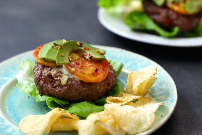 Keto BBQ Recipe for BLAT Bison Burger
