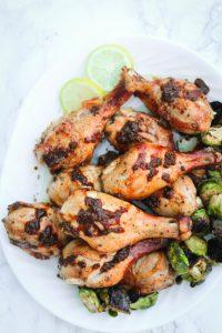 Keto BBQ Recipe for Lemon garlic chicken drumsticks
