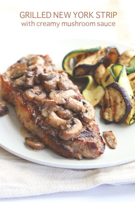 Grilled Steak with Creamy Mushroom Sauce