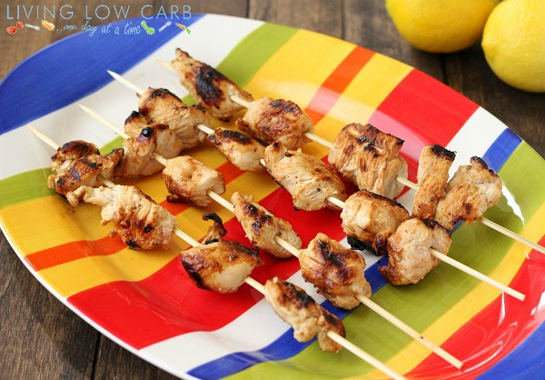 Keto BBQ Recipes for Lemon and Garlic Grilled Chicken Skewers