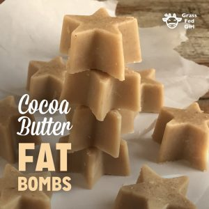 Keto Cocoa Butter Fat Bombs Recipe