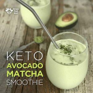 Keto Avocado Matcha Smoothie