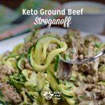 Keto Ground Beef Stroganoff Noodles (zucchini noodles)