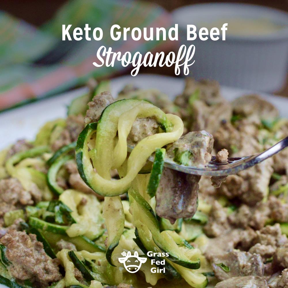 Keto Ground Beef Stroganoff Noodles