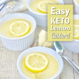 Easy Keto Lemon Custard
