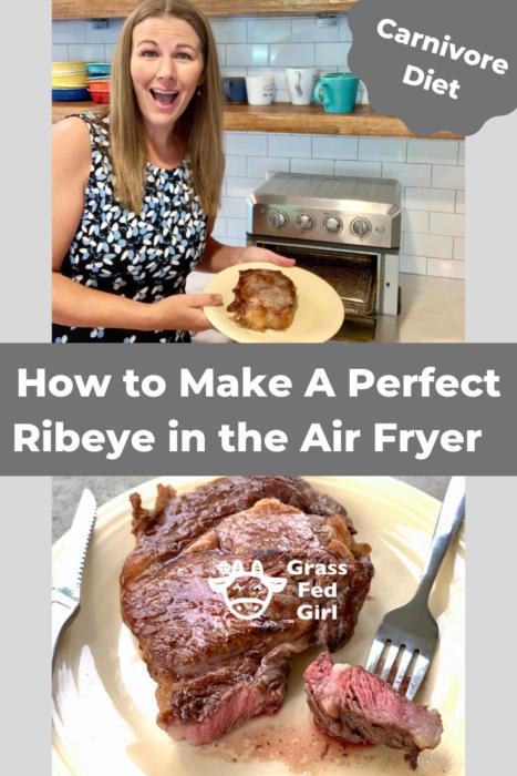 Carnivore Ribeye Steak from Frozen in the Air Fryer