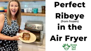 How to Make a Perfect Carnivore Diet Ribeye in the Air Fryer (from frozen)