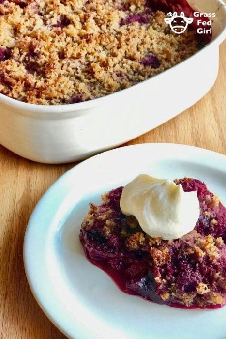 Keto Berry Cobbler Crisp Recipe