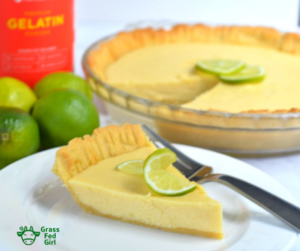 Keto key lime pie and keto almond crust